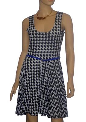 atmosphere blue mid dress fancy belt attire