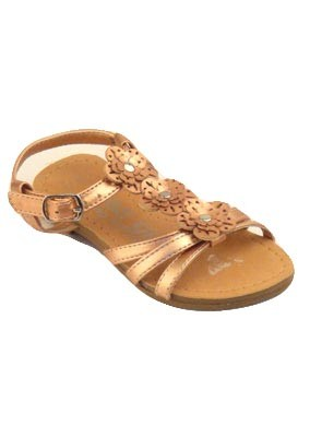 Girls-flower-gold-sandal