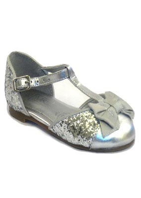 Metallic-bow-sandal