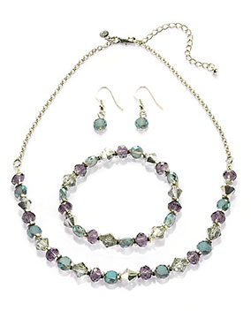 12-50P-Multi-Faceted-Bead-Necklace,-Bracelet-&-Earrings-Set