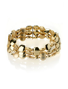 9-50P-Gold-Plated-Slinky-Nugget-Stretch-Bracelet