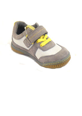 Grey-yellow-leather-trainer