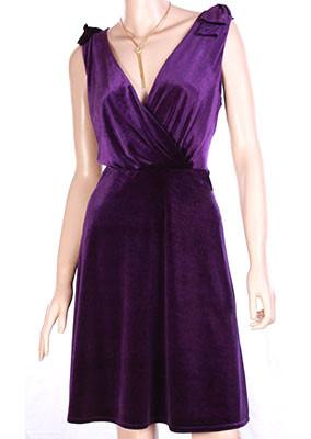 Purple-velvet-dress