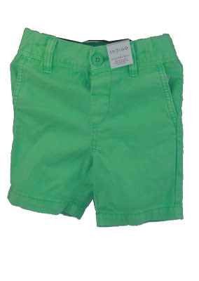 Green-short-jeans