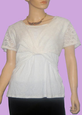Ivory-front-knot-top